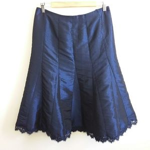 Lane Bryant Collection Navy Tafetta Trumpet Skirt